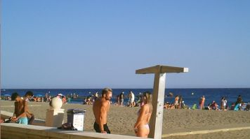 Almeria 15-7-20 playa mascarillass